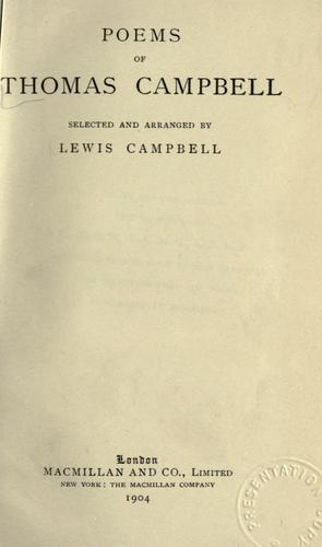 Poems of Thomas Campbell