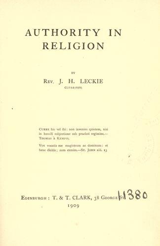 Download Authority in religion