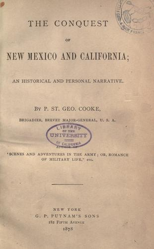 Download The conquest of New Mexico and California