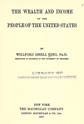 Download The wealth and income of the people of the United States