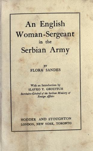 Download An English woman-sergeant in the Serbian Army