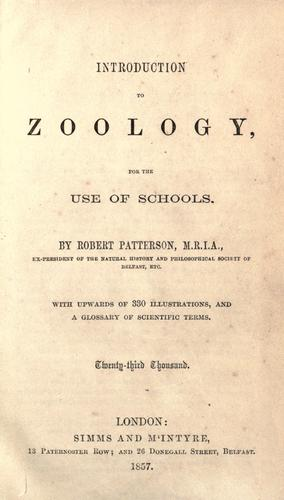 Introduction to zoology, for the use of schools