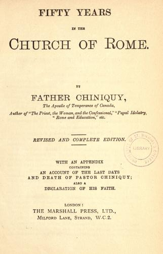 Download Fifty years in the Church of Rome.