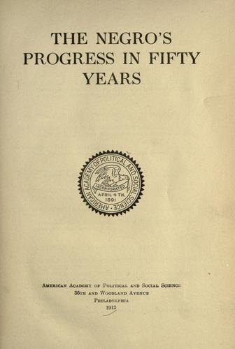 Download The Negro's progress in fifty years