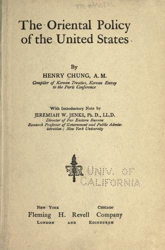 Download The oriental policy of the United States