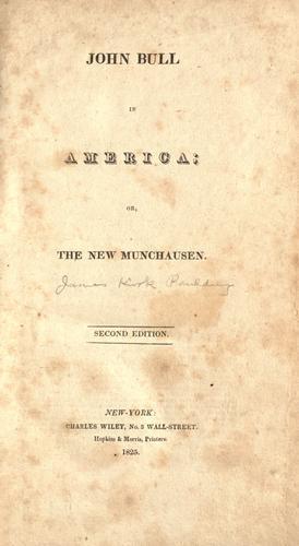 John Bull in America, or, The new Munchausen