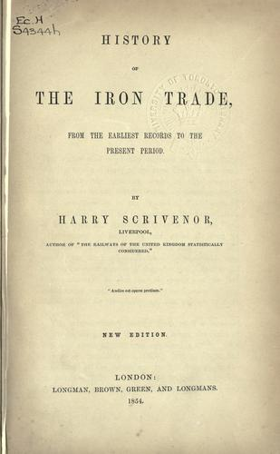 History of the iron trade