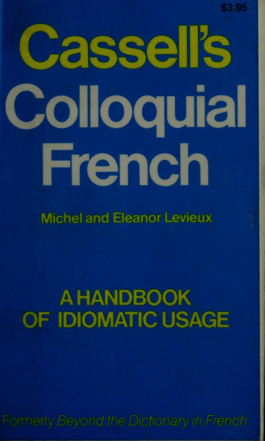 Cassell's colloquial French by Michel Levieux