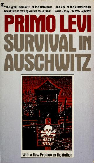 Cover of: Survival in Auschwitz | Primo Levi