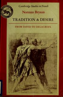 Tradition and desire by Norman Bryson