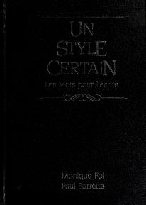 Cover of: Un style certain   Monique Fol