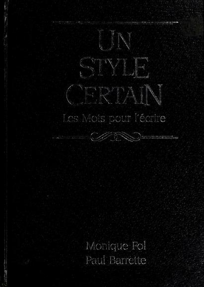 Un style certain by Monique Fol