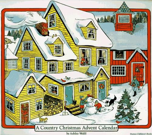 A Country Christmas Advent Calendar by Ashley Wolff