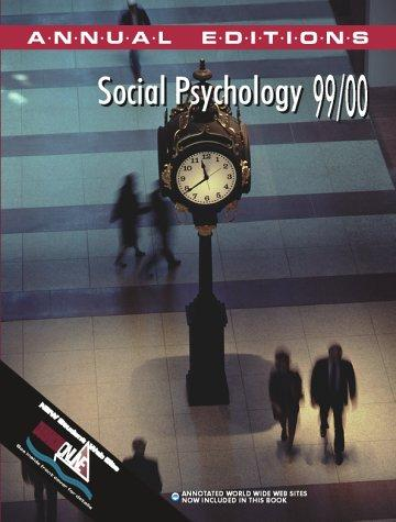 Social Psychology 1999-2000 (Annual Editions) by Davis, Mark
