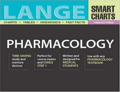 Lange Smart Charts Pharmacology by Catherine E. Pelletier