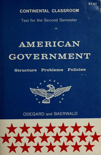 American government by Peter H. Odegard