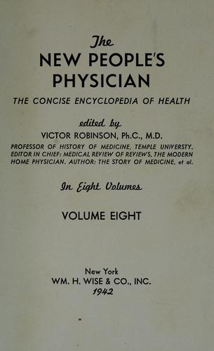 The New people's physician by Victor Robinson