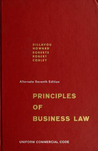 Principles of business law by Essel Ray Dillavou