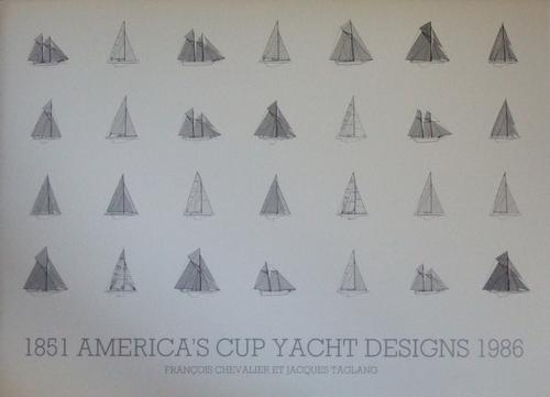 America's Cup Yacht Designs, 1851-1986 by Chevalier, François
