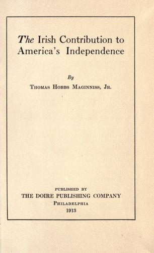 The Irish contribution to America's independence