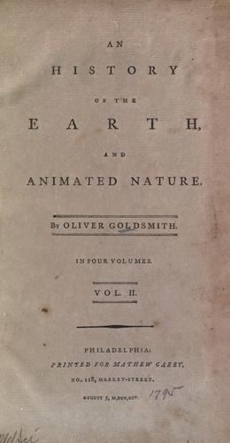 An history of the earth, and animated nature.