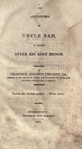 The adventures of Uncle Sam by Frederick Augustus Fidfaddy
