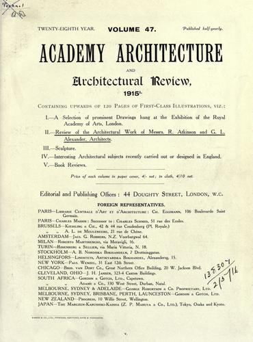 Academy architecture and architectural review. by