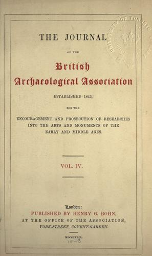 Journal - British Archaeological Association by British Archaeological Association