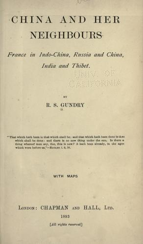 China and her neighbours by R. S. Gundry