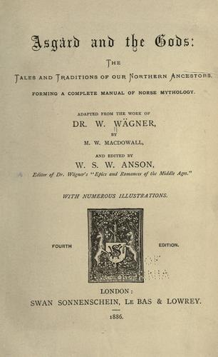 Asgard and the gods by Wilhelm Wägner
