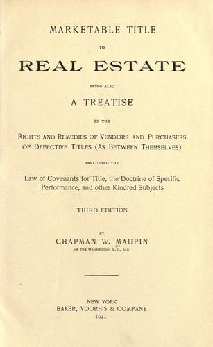 Marketable title to real estate
