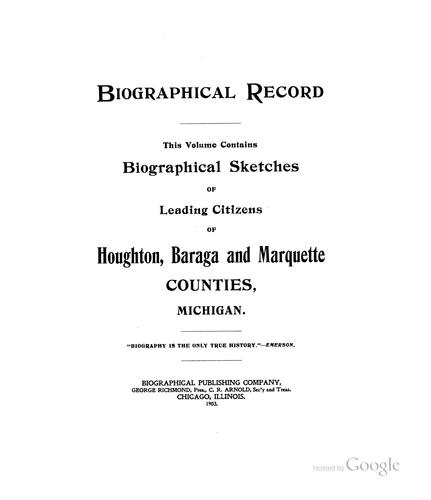 Biographical record by