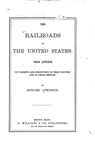 The railroads of the United States by Atkinson, Edward