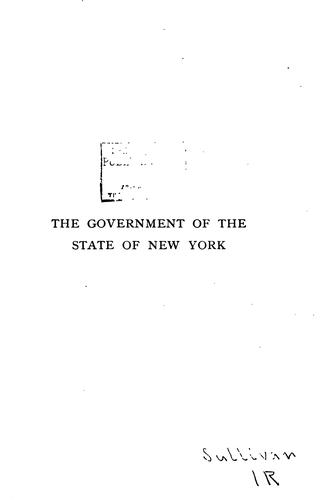 The Government of the state of New York by James Sullivan