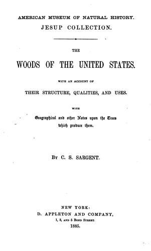 The woods of the United States by Sargent, Charles Sprague