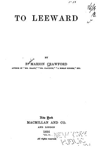 To leeward by Francis Marion Crawford