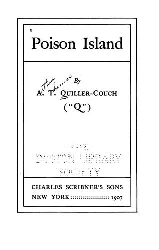 Poison Island by Sir Arthur Thomas Quiller-Couch
