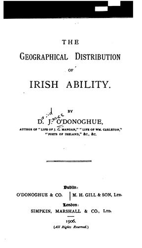 The geographical distribution of Irish ability.
