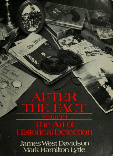 After the fact by James West Davidson