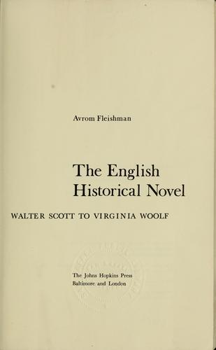 The English historical novel