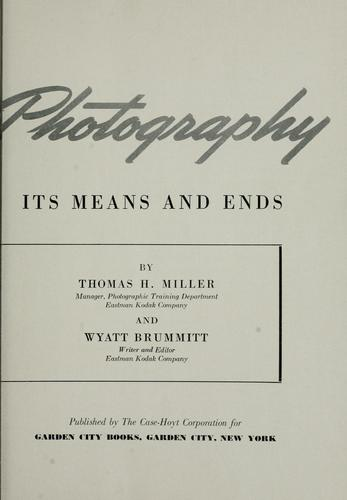 This is photography by Thomas H. Miller