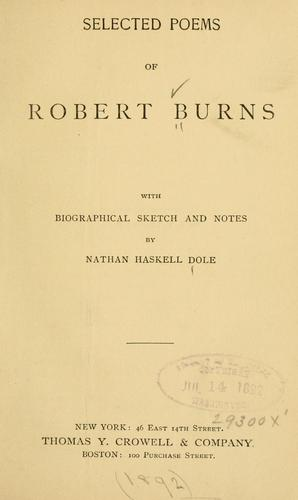 Selected poems of Robert Burns by Robert Burns