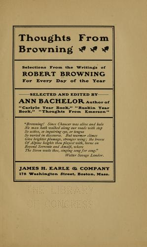 Thoughts from Browning by Robert Browning
