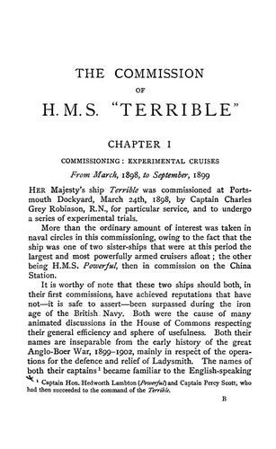 "The commission of H.M.S ""Terrible"", 1898-1902 by George Crowe"