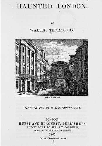 Haunted London by Thornbury, Walter