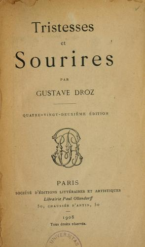 Tristesses et sourires by Gustave Droz
