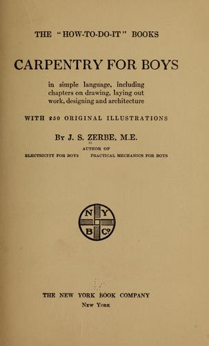 Carpentry for boys, in simple language by James Slough Zerbe