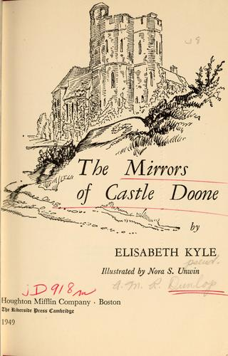 The mirrors of Castle Doone by Elisabeth Kyle