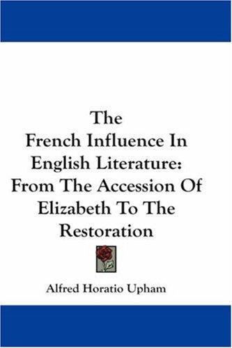 The French Influence In English Literature