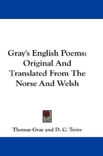 Gray's English Poems by Thomas Gray